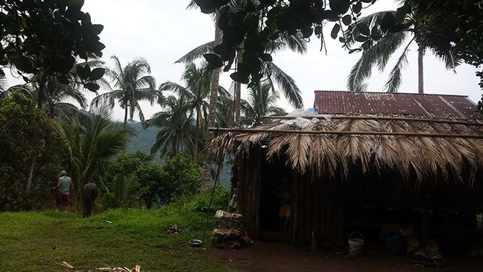 Bukal Fall近くの小屋